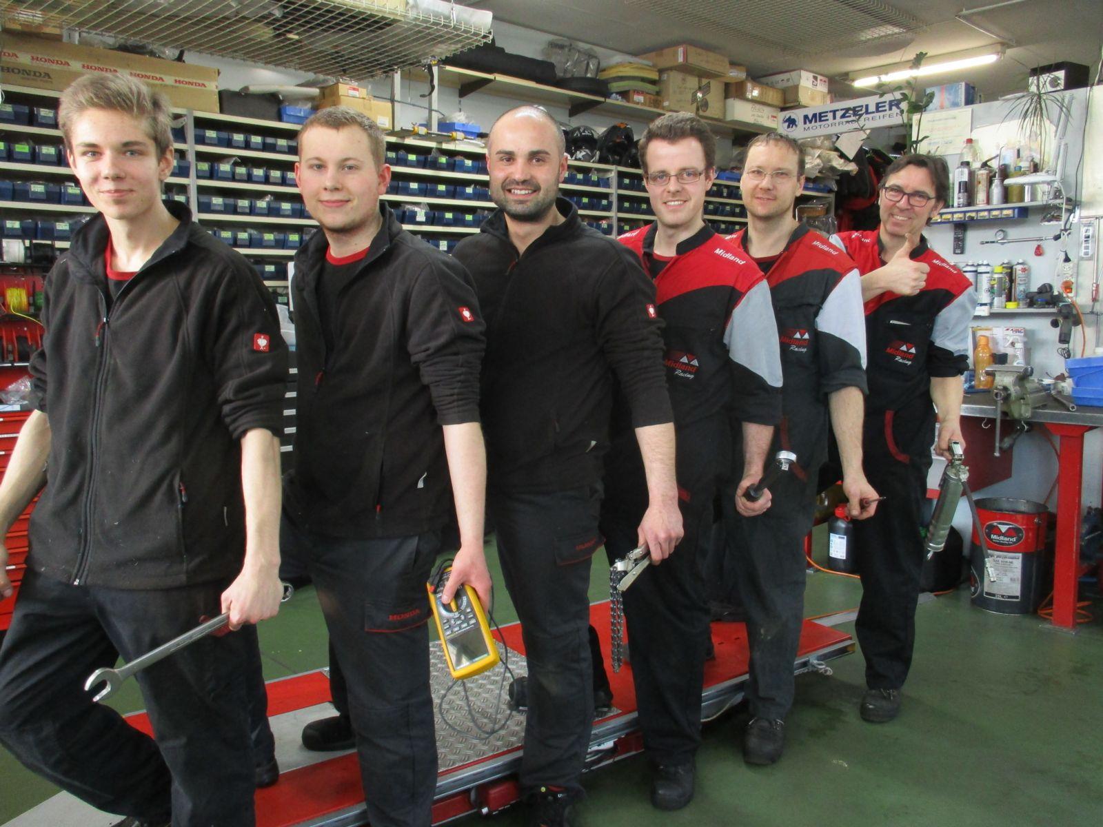 Schlatter Motorrad Werkstatt Team